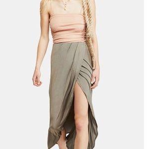 Free People Army  Smoke and Mirrors Maxi Skirt